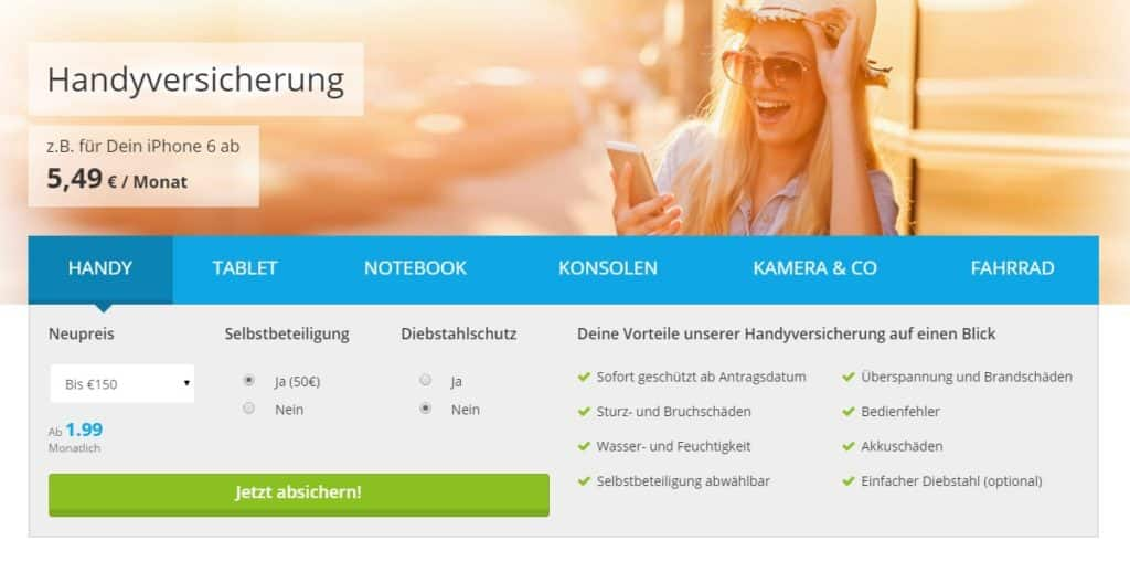 Onlineversicherung.de - Leistungen im Vergleich