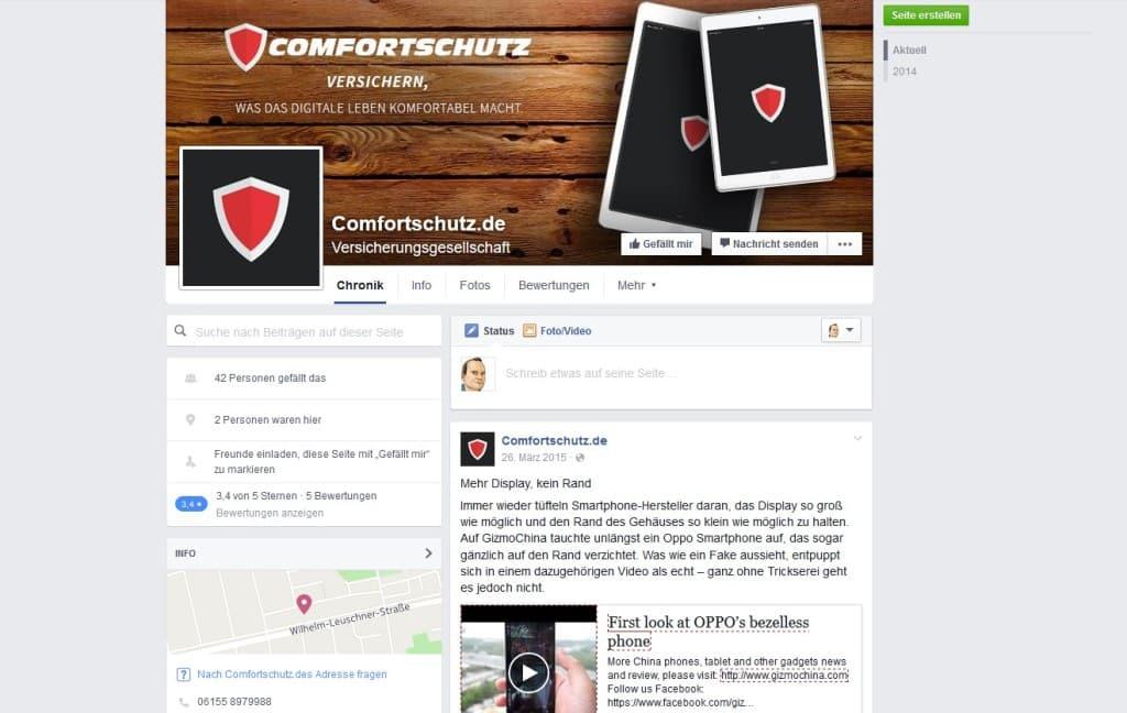 comfortschutz auf Facebook