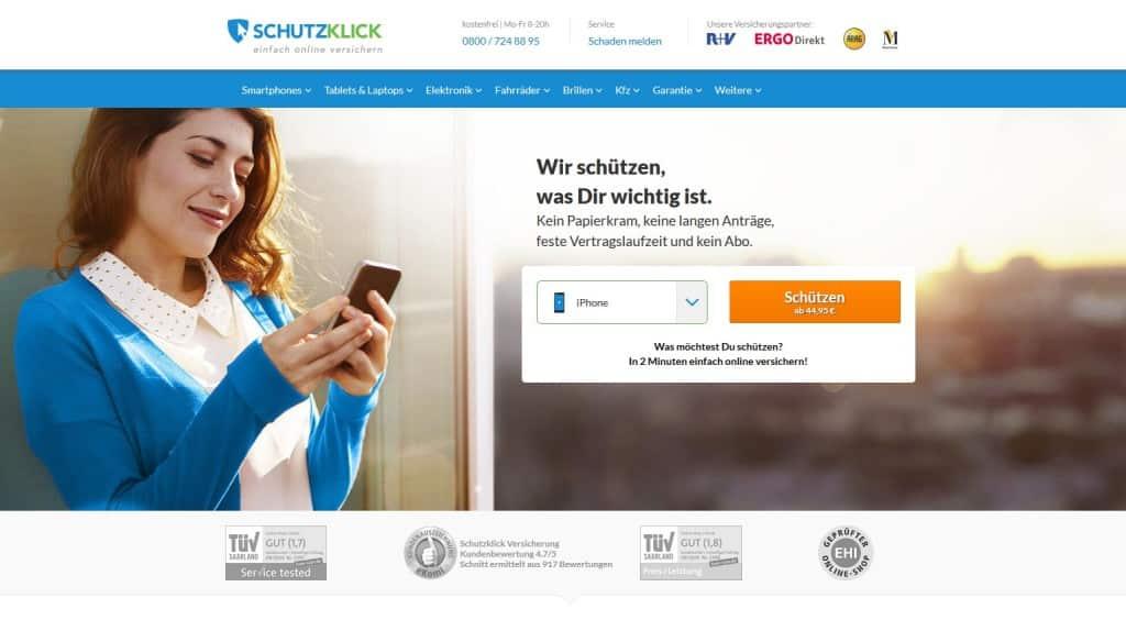 Schutzklick Webseite